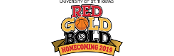 University of St. Thomas in Houston Red Gold & Bold Homecoming logo - small