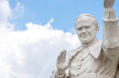 Statue of Saint John Paul II - University of St. Thomas - Houston MA in John Paul II Studies Degree