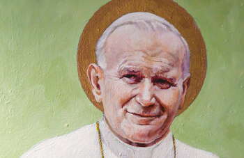 Painting of Saint John Paul II - Master of Arts in John Paul II Studies degree at University of St. Thomas - Houston