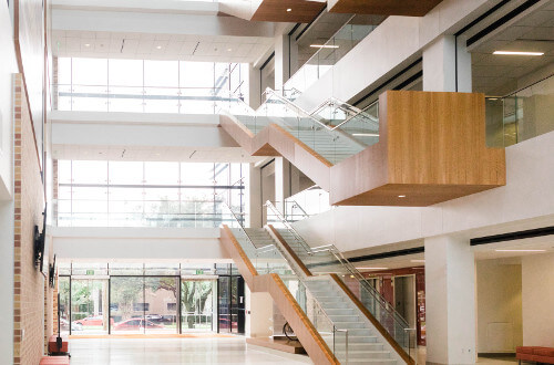 University of St. Thomas - Houston Center for Science and Health Professions atrium