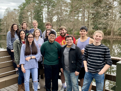 University of St. Thomas - Houston Honors Program students on annual retreat