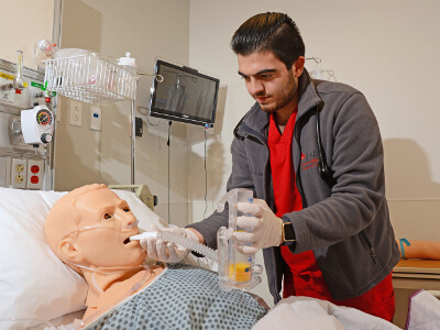 University of St. Thomas - Houston Master of Science in Nursing Degree Program Healthcare & Nursing Simulation concentration - RN in lab