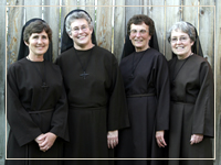 Franciscan Sisters of the Eucharist - Sr. Damien Marie Savino, Sr. Veronica Schueler, Sr. Paula Jean Miller and Sister Mary Roberta Connors