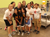 Photo: UST Women's Basketball Team at Houston Food Bank