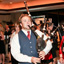 Photo: A bagpiper entertains the gala attendees