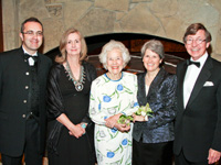 Photo: Honorable Aidan Cronin, Mary Elizabeth Donovan, center, Lori Gallagher, Honorable John B. Kane