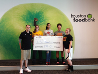 Women's Basketball at the Houston Food Bank
