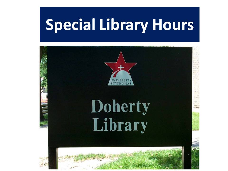 Doherty Library Special Hours
