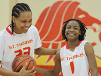 Seniors Combine Skill, Friendship on the Court