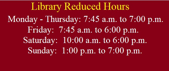 Special Library Hours during Spring Break