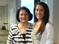 Photo: Ms. Patricia McKinley and Brittany Garza