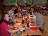 Shared dinner at Camp Cullen