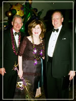 Mardi Gras 2008 chairs Mr. and Mrs. Mach and honoree Jack Sweeney