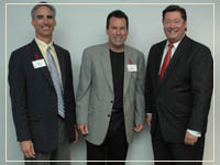 photo: Oliver Luck Gary Kubiak George DeMontrond