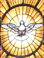 Graphic: Dove and Stained Glass